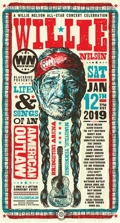 Garrett's Willie Nelson Posters Rock Posters, Band Posters, Music Posters, Cowboy Photography, Vintage Concert Posters, Keys Art, Music Images, Willie Nelson, Country Artists