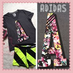 NEW! Adidas Women's Grey& Floral Neon Tee Shirt XL new without tags! Never worn! perfect condition! name brand: Adidas. size: XL. Extra-Large. Women's. colors: Grey, Neon, Black, Pink, Mint, White, Orange, & Purple. design: Neon floral letter A on front, This tee is perfect for spring & summer workouts! Adidas Tops Tees - Short Sleeve
