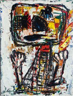 Karel Appel**Door zijn vele reizen krijgt Karel Appel steeds betere contacten in de Amerikaanse kunstwereld. Vanaf de zestiger jaren worden er in de VS talloze tentoonstellingen van zijn werk georganiseerd. Op het werk van Karel Appel heeft de Deense schilder Asger Jorn een sterke invloed gehad. Karel Appel voelt zich voornamelijk tot klassieke thema's, zoals landschappen, figuren en dieren aangetrokken.