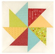 Flying Kite Quilt Block tutorial from Fat Quarter Shop Wishes quilt along