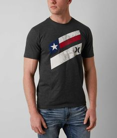 Hurley Texas Icon T-Shirt - Men's T-Shirts in Heather Black | Buckle
