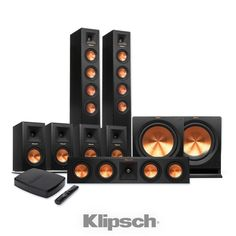 Klipsch Reference Premiere HD Wireless Floorstanding and Monitor System with FREE HD Control Center Best Home Theater System, Home Theater Speaker System, Audio System, Klipsch Speakers, Room Speakers, Surround Sound Speakers, Surround Sound Systems, Home Theatre Sound, Speaker Box Design