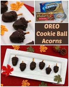 Easy Thanksgiving treat recipe that you can make with preschoolers! Get cooking with kids this holiday season! Thanksgiving Recipes For Kids To Make, Easy Holiday Recipes, Thanksgiving Treats, Oreo Cookie Balls Recipe, Oreo Cookies, Acorn Recipe, Oreo Treats, Cooking With Kids, Fall Crafts