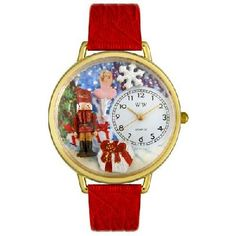 WHIMSICAL WATCHES - Christmas Nutcracker Watch in Gold - FREE SHIPPING $45.00