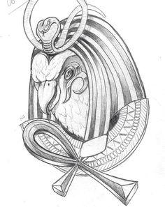 Horus tattoo idea ankh