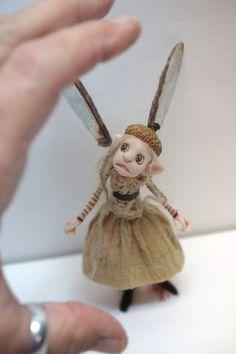 ooak poseable little ELF fairy girl ( 74 ) pixie polymer clay art doll by DinkyDarlings by DinkyDarlings on Etsy