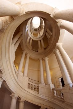 The staircase at Palazzo Barberini in Rome by Francesco Borromini