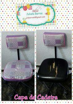 Capa de cadeira. #capas #cadeira #plasticocristal #renove #transforme #peçaasua #AtelieJulianaBarrros