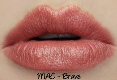 MAC Brave lipstick swatches & review