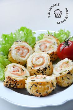 Puff Pastry Appetizers, Bruschetta, Potato Salad, Sushi, Shrimp, Food And Drink, Potatoes, Snacks, Meat