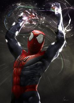 Cosmic Spider-Man, by Ian Parra on ArtStation at https://www.artstation.com/artwork/q6PlP°°