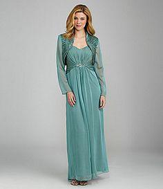 Ignite Evenings Woman Embellished Bolero Jacket Dress #Dillards