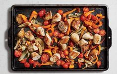 SAUSAGE AND PEPPER BAKE http://www.womenshealthmag.com/food/sheet-pan-dinner-recipe/slide/5