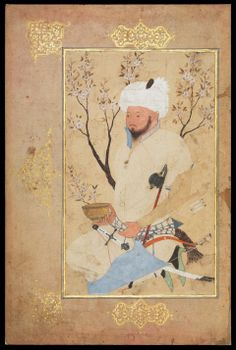 An Amir Seated Beneath a Tree Persian, Safavid, about 1557 Possibly by Shaykh Muhammad, Persian probably Mashhad, Iran, Opaque watercolor on paper