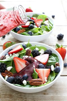 Berry Spinach Salad with Berry Balsamic Vinaigrette