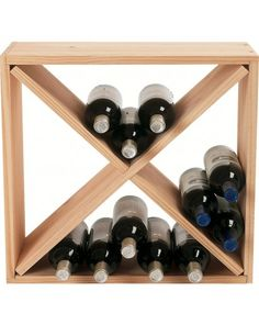 #Wine Enthusiast Cube Stack X-Style Wine Rack #happyhour