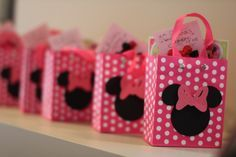 Cute Minnie Mouse party favors!  See more party ideas at CatchMyParty.com!