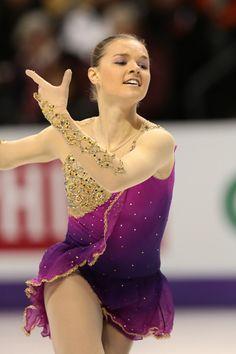 Natalia Popova,Purple Figure Skating / Ice Skating dress inspiration for Sk8 Gr8 Designs.