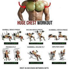 Best Bodybuilding Program: Likes, 179 Comments - Menswear Guide ( Ultimate Chest Workout, Best Chest Workout, Chest Workouts, Best Chest Exercises, Weight Training Workouts, Fitness Workouts, At Home Workouts, Bike Workouts, Swimming Workouts