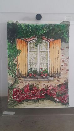 """Watercolor by Celya Jacobi """"Doors and Windows around the world"""""""
