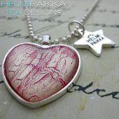 Pinkki-kulta sydän 15€ #kaulakoru #necklace #sydän #heart