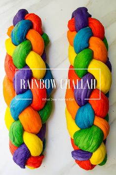 Rainbow Challah Bread - What Jew Wanna Eat Rainbow Bread, Rainbow Food, Rainbow Baking, Rainbow Pasta, Rainbow Snacks, Rainbow Desserts, Rainbow Stuff, Rainbow Cakes, Unicorn Birthday