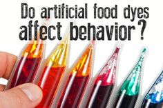 Do artificial food dyes affect behavior? It does affect my children, who do not have behavioral issues otherwise. Health And Nutrition, Health And Wellness, Health Tips, Nutrition Articles, Women's Health, Health Fitness, Artificial Food Coloring, Wellness Mama, Food Dye