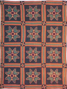 Feathered Star, 1886. Made by members of the McCullock family. Person Co, North Carolina.