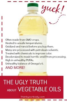The truth about vegetable oils: And why you should avoid them!