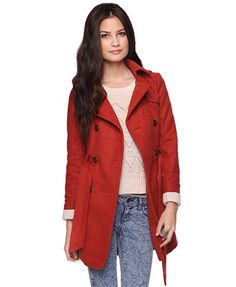 Heavy Double Breasted Coat | FOREVER 21 - 2002928854