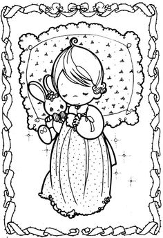 Sleeping child precious moments coloring pages