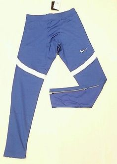 Mens Nike Running Fitness Pants Large Royal Blue 2017 Zipper Ankles 835955-494