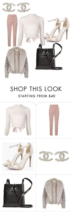 """""""Untitled #5273"""" by brittklein ❤ liked on Polyvore featuring Alexander McQueen, Gucci, Boohoo, Chanel, Kara and River Island"""