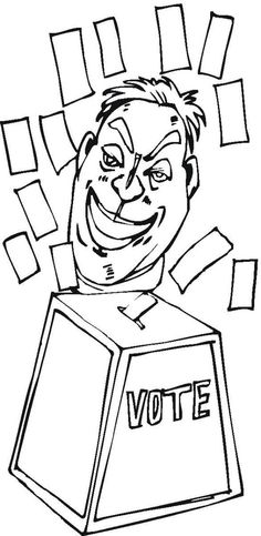 coloring pages election - photo#37
