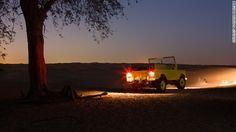 Enjoy an exciting night safari and astronomy with dinner in the Dubai desert on this private tour! As evening falls, travel from Dubai and head for Dubai Desert Conservation Reserve . Here, your private guide greets you in a private Range Rove Dubai Attractions, Dubai Activities, Desert Safari Dubai, Fun Deserts, Nocturnal Animals, Dubai Travel, Tours, Stargazing, Best Hotels
