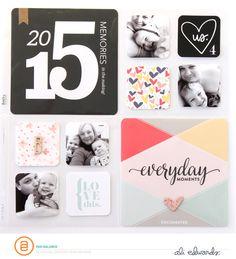 Project Life 2015 Title Page by PamBaldwin - Studio Calico Project Life Scrapbook, Project Life Album, Project Life Layouts, Project Life Cards, Scrapbooking Layouts, Scrapbook Pages, Pocket Scrapbooking, Baby Scrapbook, Layout Inspiration