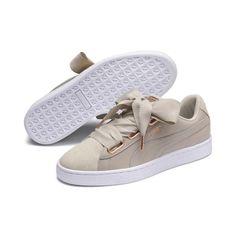low priced e2370 8cbfc Puma Basket Heart Woven Rose Women s Sneakers Women, Size  6, Silver Gray-