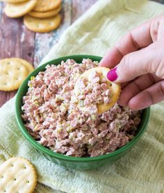 It's a delicious 3 ingredient sandwich spread that kids go bana… Monkey Meat! It's a delicious 3 ingredient sandwich spread that kids go bana…, Ham Salad Recipes, Meat Recipes, Food Processor Recipes, Cooking Recipes, Appetizer Recipes, Recipies, Meat Appetizers, Sausage Recipes, Drink Recipes