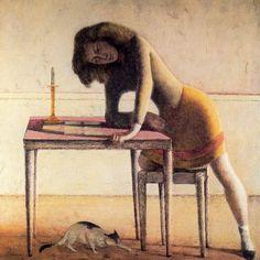 Balthus (Count Balthasar, Klossowski de Rola) - Patience - Surrealism - Genre - Oil on canvas