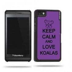 Keep Calm And Love Koalas Purple Blackberry Z10 Case - For Blackberry Z10. Truly unique Blackberry Z10 case that offers ultimate protection and adds style to your Blackberry phone. Compatible with Blackberry Z10 our universal custom Blackberry Z10 cases offer the perfect fit for your phone no matter your service carrier. Compatible with the Blackberry Z10 This lightweight and durable custom case allows easy access to all sensors ports and controls on your Blackberry Z10 while offering…