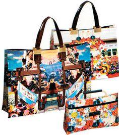 Los bolsos estampados de la casa Longchamp salpica de color la primavera