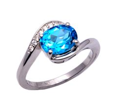 925 Sterling silver ring with Blue Topaz  & Zircon https://www.etsy.com/people/asianjewellers09?ref=si_pr http://www.ebay.com/usr/asianjewellers