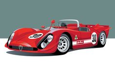These Awesome Prints Of Historic Racing Cars Would Look Great In Your Place - Airows Hot Rods, Automobile, Old Race Cars, Car Drawings, Car Brands, Car Painting, Automotive Design, Courses, Art Cars