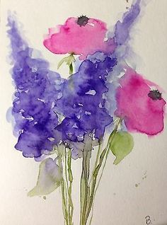 Aquarell Blumen Watercolour Flowers