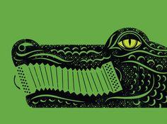illustration+letterpress: Gator by the Bay {illustration}