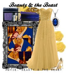 """Beauty & the Beast"" by amarie104 ❤ liked on Polyvore featuring Deborah Lippmann, Disney, Dollydagger, La Preciosa, Anna Sui, Christian Dior, Jimmy Choo, Casadei and Estée Lauder"