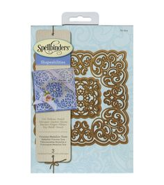Add pretty die-cut borders to a variety of craft projects, using the Spellbinders Shapeabilities Dies. This pack includes three decorative dies in attractive designs You can create lovely embossed pat