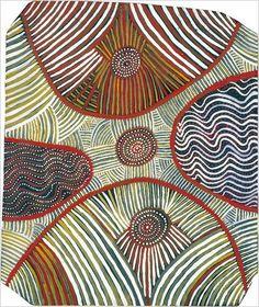 """Water Dreaming,"" 1972, by Mick Namararri Tjapaltjarri  Photo: Grey Art Gallery"