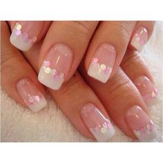 Natural nails with hint of sparkle