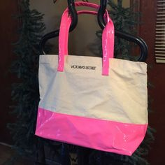 . Victoria's Secret tote.  Very cute.  . Super nice. Fast ship  smoke free home . jUST REDUCED last time final PINK Victoria's Secret Bags Totes